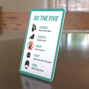 Do The Five Individual Graphics - Desktop Sign