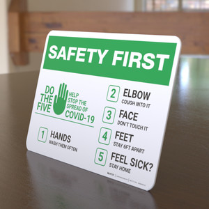 Safety First: Do The 5 Help Stop The Spread of Covid-19  Landscape - Desktop Sign