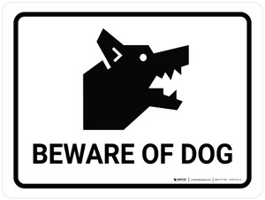 Beware Of Dog Landscape - Wall Sign