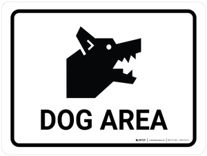 Dog Area Landscape - Wall Sign