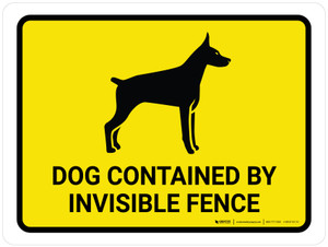 Dog Contained By Invisible Fence Landscape - Wall Sign