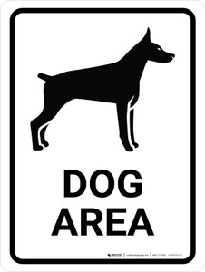 Dog Area Portrait - Wall Sign