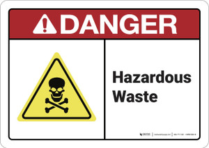 Danger: Hazardous Waste ANSI - Wall Sign