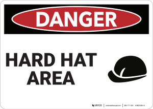 Danger: Hard Hat Area - Wall Sign