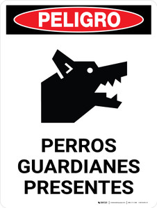 Peligro: Guard Dogs On Duty - Wall Sign