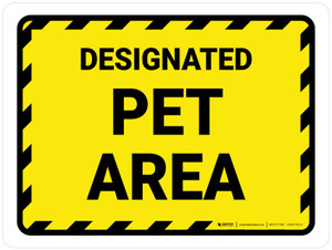 Designated Pet Area Landscape - Wall Sign
