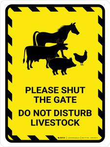 Please Shut The Gate - Do Not Disturb Livestock Portrait - Wall Sign