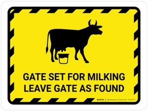 Gate Set For Milking - Leave Gate As Found Hazard Landscape - Wall Sign