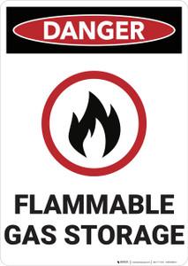 Danger: Flammale Gas Storage - Wall Sign