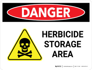 Danger: Herbicide Storage Area Landscape - Wall Sign