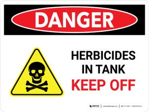 Danger: Herbicides In Tank Keep Off Landscape - Wall Sign