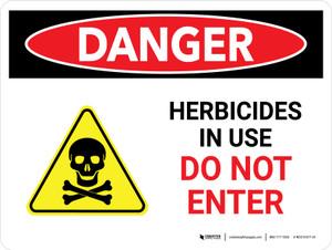 Danger: Herbicides In Use Do Not Enter Landscape - Wall Sign