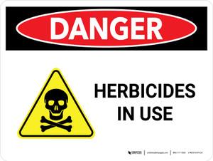 Danger: Herbicides In Use Landscape - Wall Sign