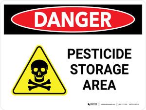 Danger: Pesticide Storage Area Landscape - Wall Sign