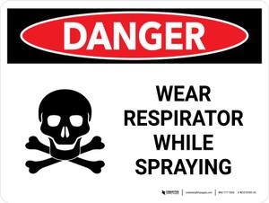 Danger: Wear Respirator While Spraying Landscape - Wall Sign