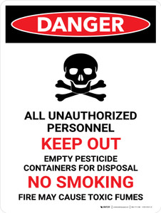 Danger: All Unauthorized Personnel Keep Out Portrait - Wall Sign