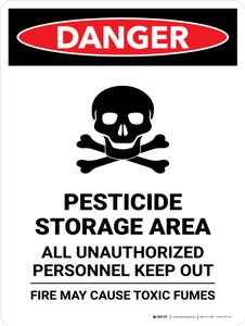 Danger: Pesticide Storage Area All Portrait - Wall Sign