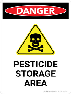 Danger: Pesticide Storage Area Portrait - Wall Sign