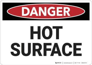 Danger: Hot Surface - Wall Sign