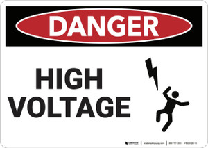 Danger: High Voltage - Wall Sign