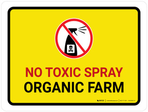 No Toxic Spray - Organic Farm with Icon Landscape - Wall Sign