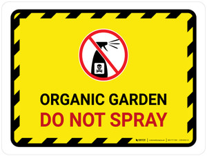Organic Garden - Do Not Spray with Icon Landscape - Wall Sign
