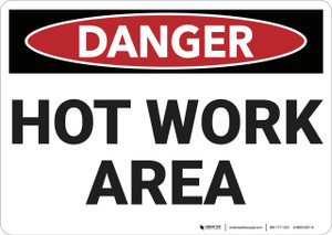Danger: Hot Work Area - Wall Sign