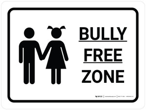 Bully Free Zone Landscape with Icon - Wall Sign