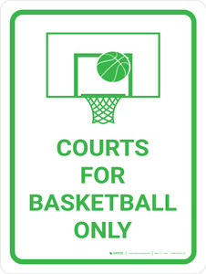 Courts For Basketball Only Portrait with Icon