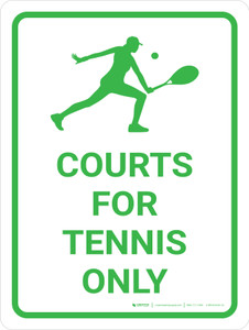 Courts For Tennis Only Portrait with Icon
