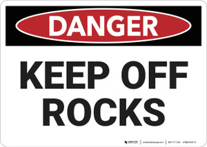 Danger: Keep off Rocks - Wall Sign