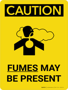 Caution: Fumes May Be Present Portrait With Icon - Wall Sign