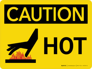 Caution: Hot Landscape With Icon - Wall Sign
