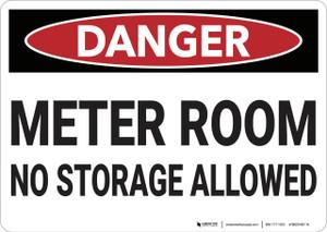 Danger: Meter Room No Storage Allowed - Wall Sign