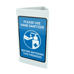 Please Use Hand Sanitizer Before Entering This Premises Portrait - Tri-fold Sign