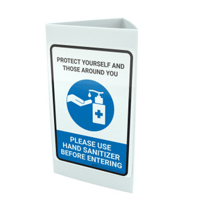 Protect Yourself And Those Around You - Please Use Hand Sanitizer Portrait - Tri-fold Sign