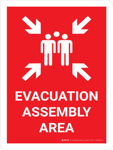 Evacuation Assembly Area Portrait with Graphic