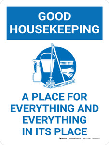 Good Housekeeping A Place For Everything Portrait with Graphic