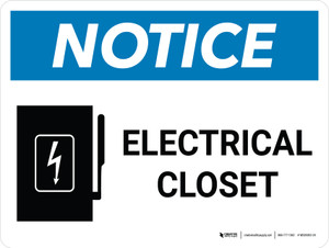 Notice: Electrical Closet Landscape with Graphic