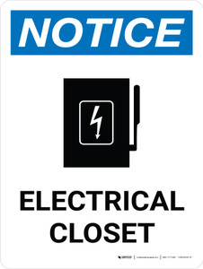 Notice: Electrical Closet Portrait with Graphic