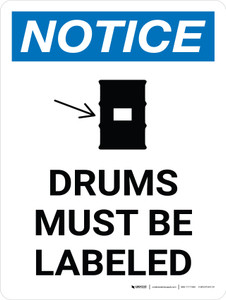 Notice: Drums Must be Labeled Portrait with Graphic