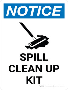 Notice: Spill Clean Up Portrait with Graphic