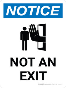 Notice: Not an Exit Portrait with Graphic