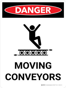 Moving Conveyors Portrait with Graphic - Wall Sign