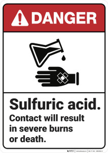Danger: Sulfuric Acid ANSI - Wall Sign