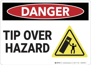 Danger: Tip Over Hazard - Wall Sign