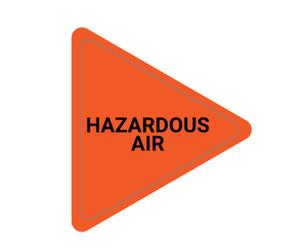 Hazardous Air - Triangle Duct Marker