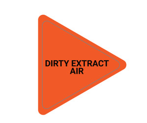 Dirty Extract Air - Triangle Duct Marker