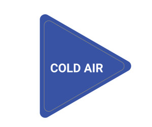 Cold Air - Triangle Duct Marker