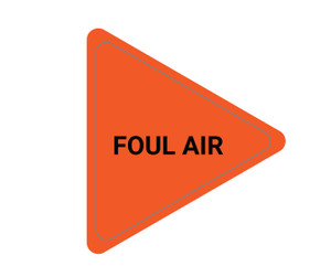Foul Air - Triangle Duct Marker